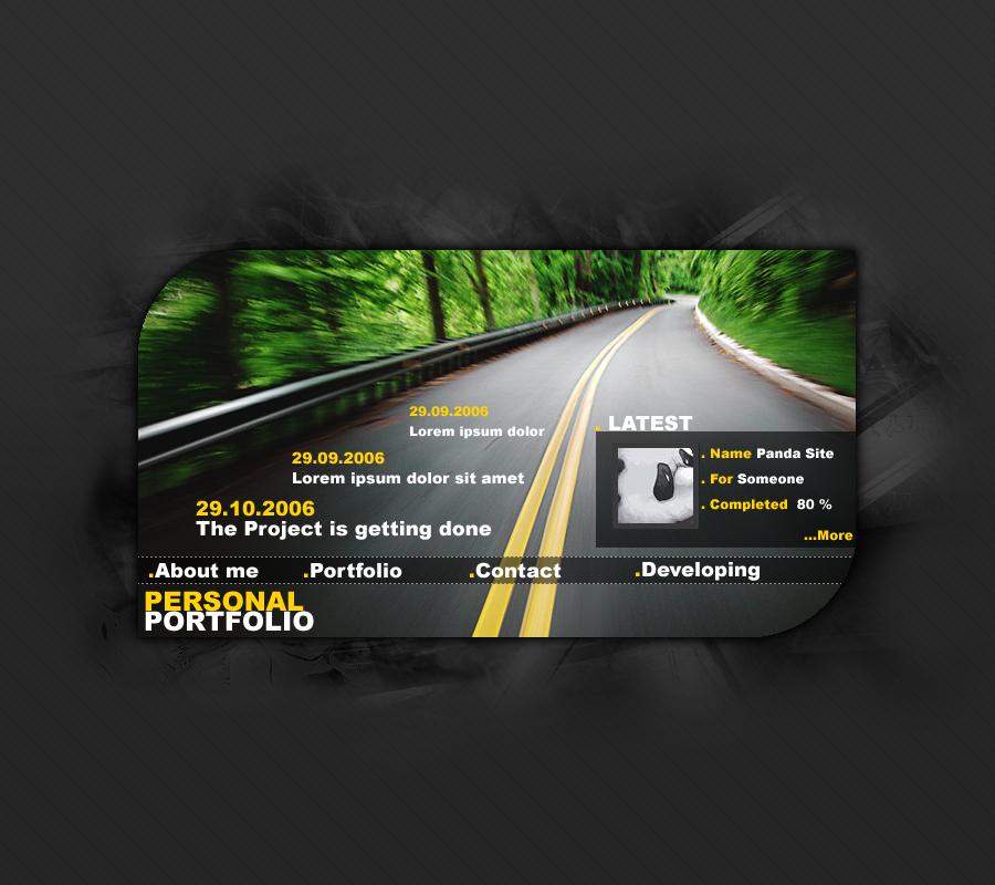Personal Portfolio Road Version
