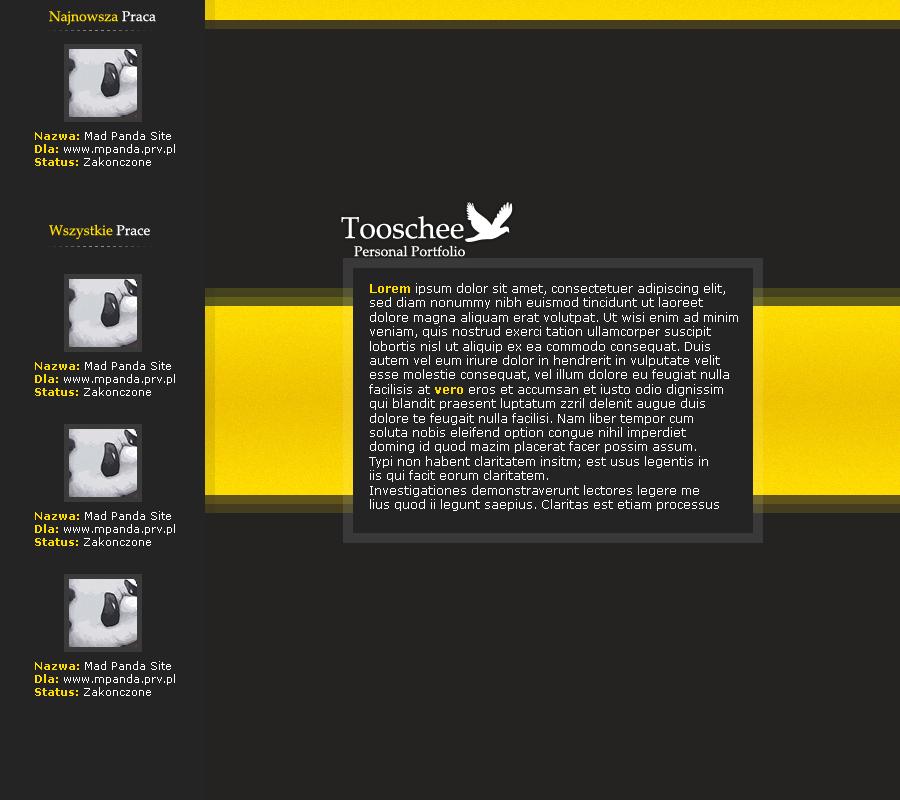 Personal Portfolio Yellow Version