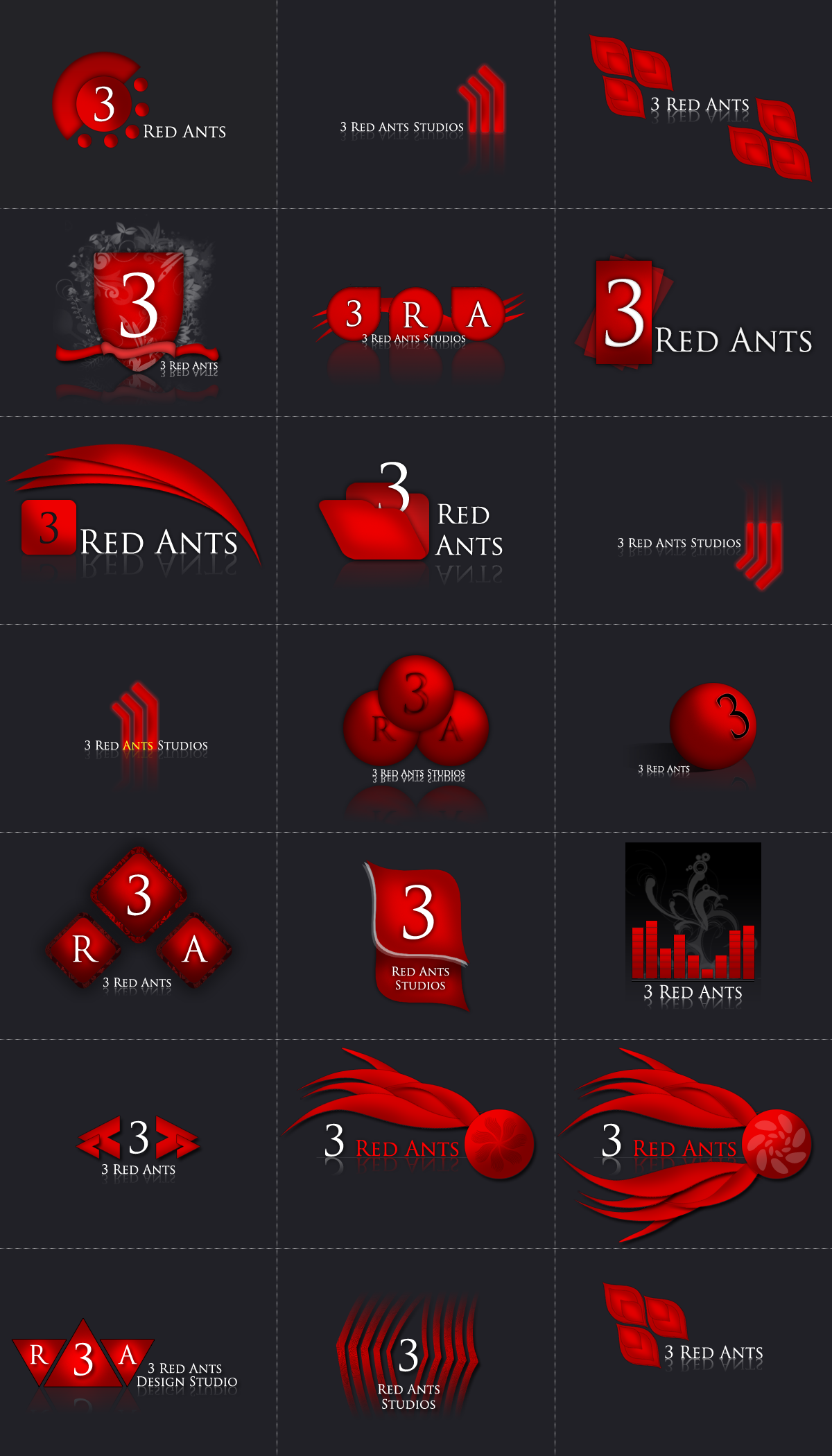 3 Red Ants Logotypes