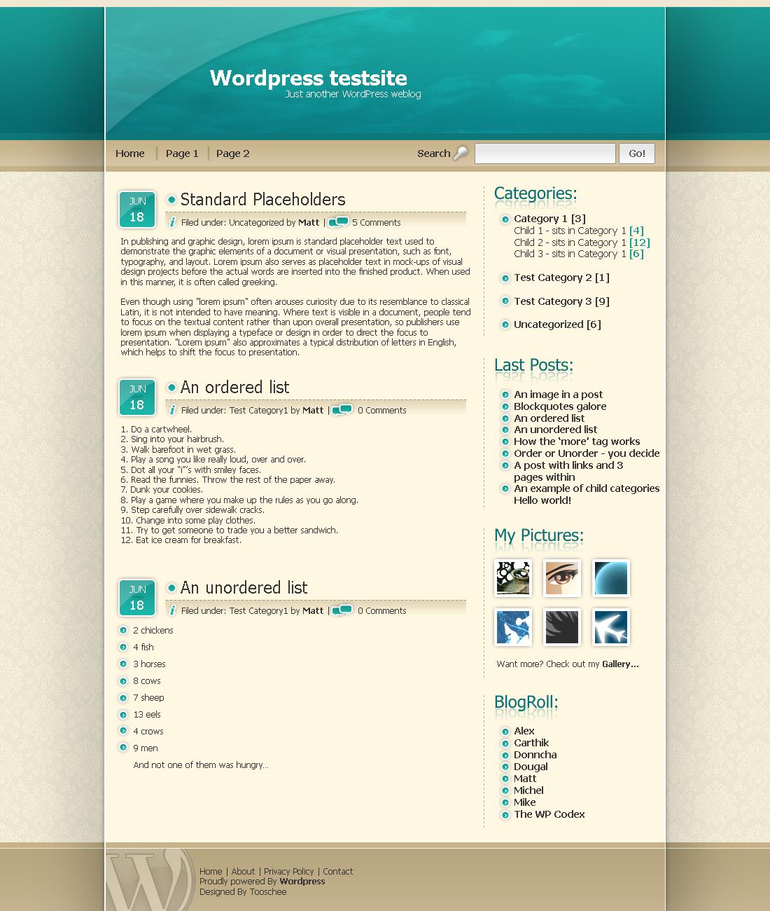 Wordpress Template no.2