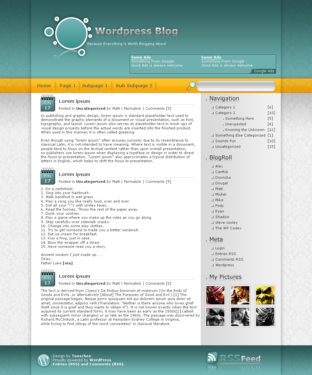 Wordpress Template no.5