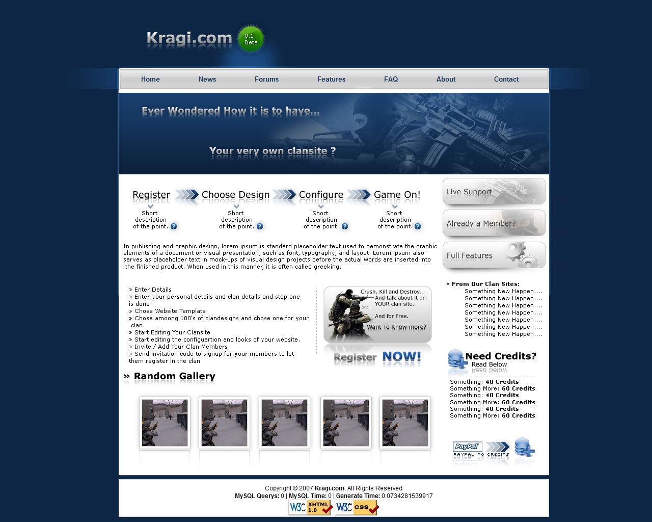 Kragi Website