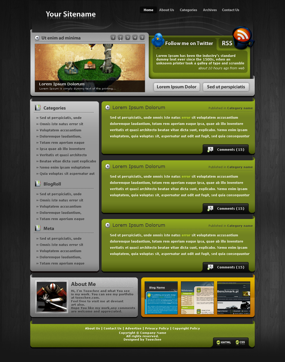 Wordpress Template no.13 - Green Harmony