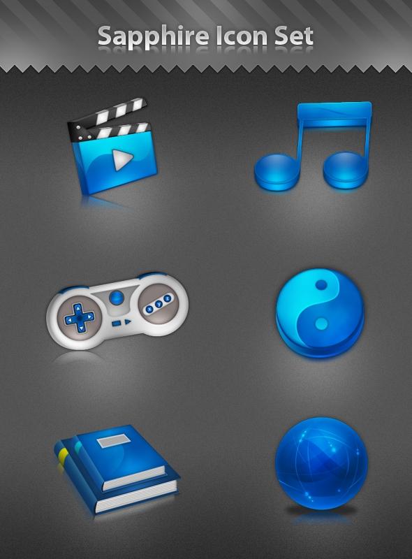 Sapphire Icon Set