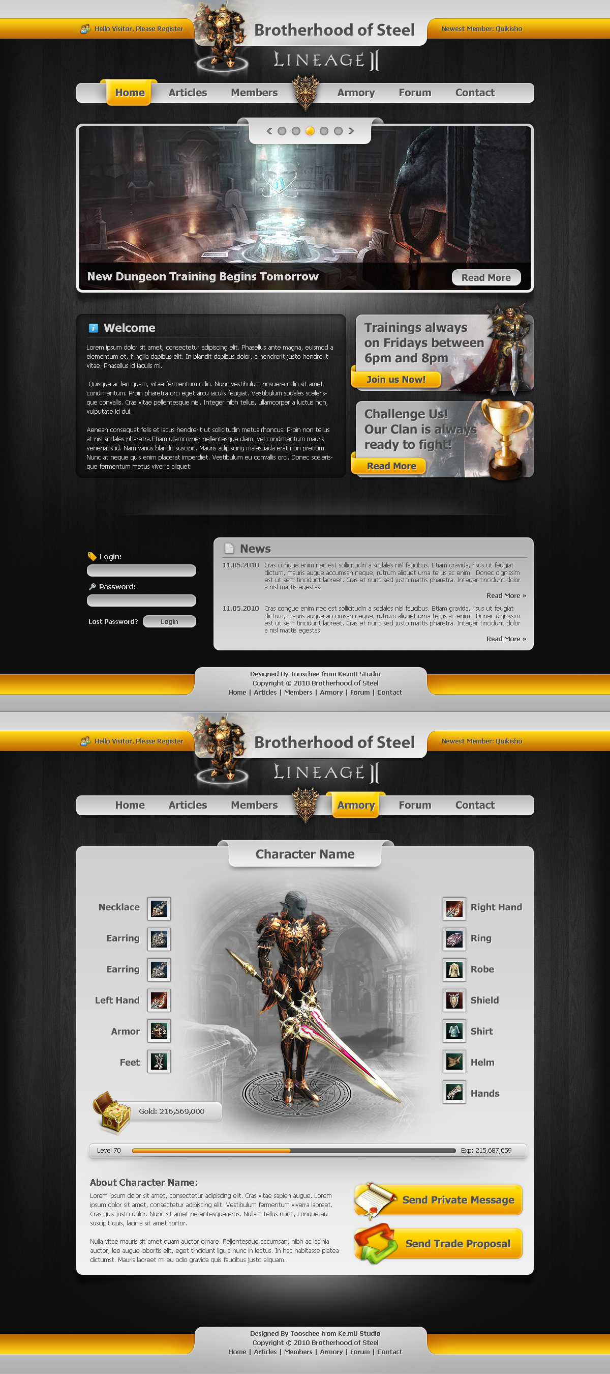 Lineage 2 Clan Website