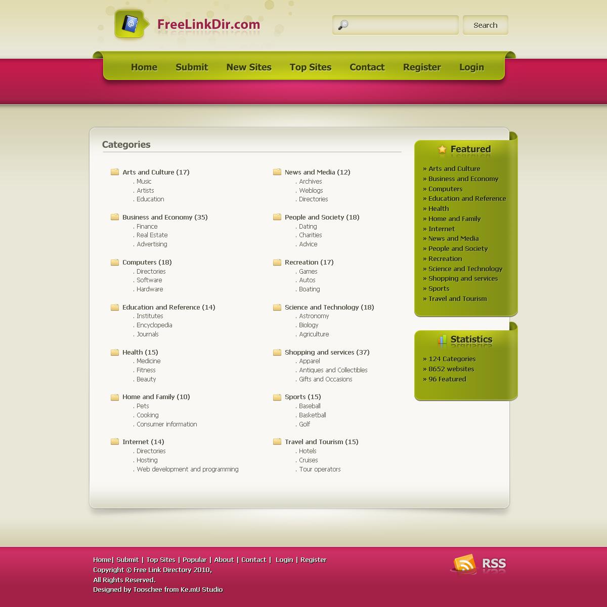 Freelinkdir.com Redesign
