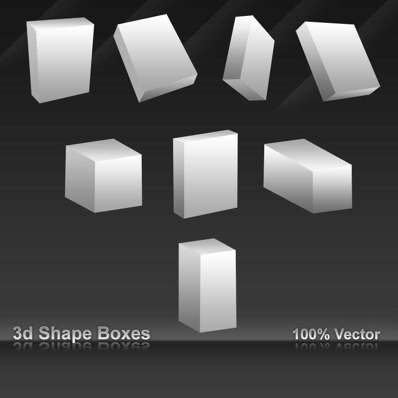 3D Shape boxes