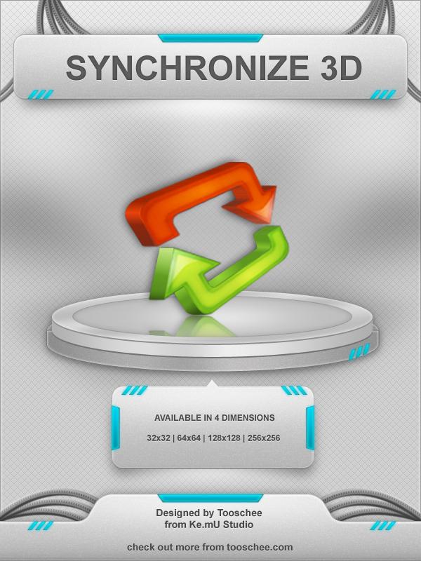 Synchronize 3D Icon