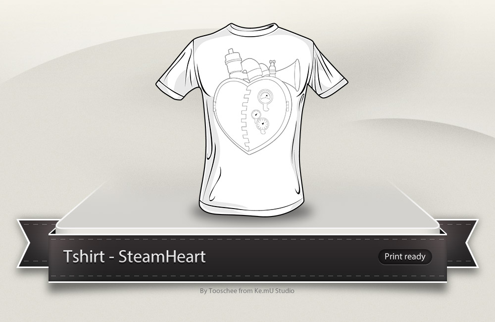 SteamHeart t-shirt