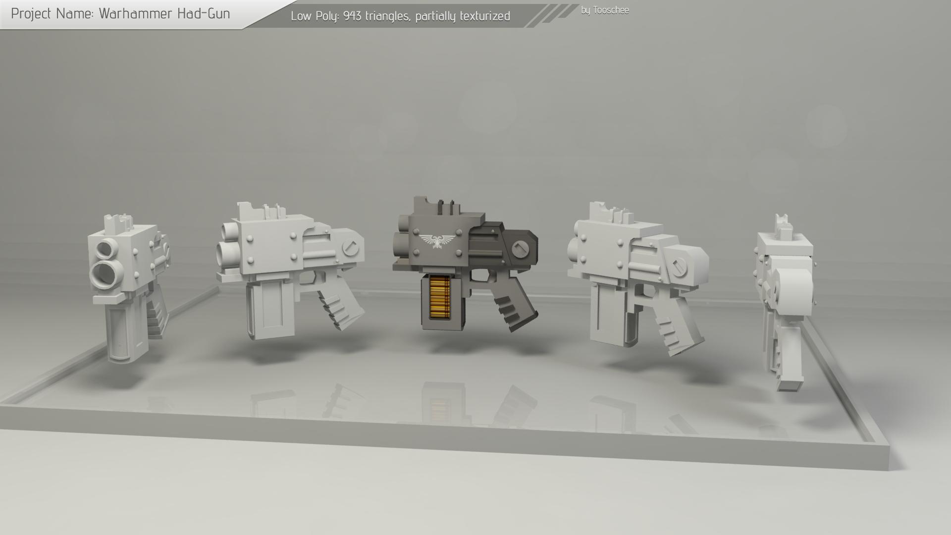 Warhammer Hand-Gun Model