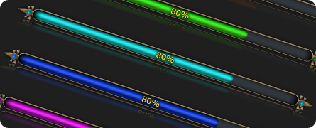 Fantasy Style Progress Bars